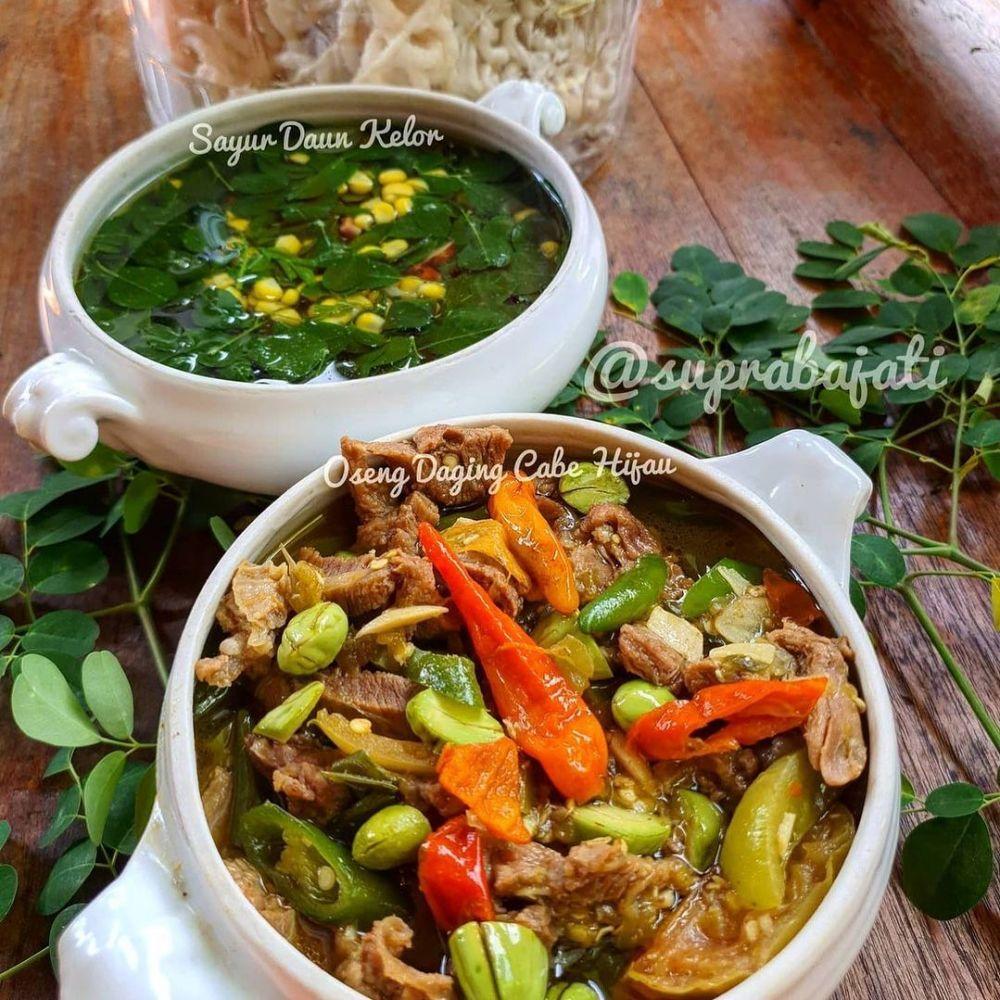 Resep tumis pedas pendamping menu Lebaran © Instagram