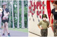 Gaya outfit 8 presenter saat momong anak, Ayu Dewi stylish abis