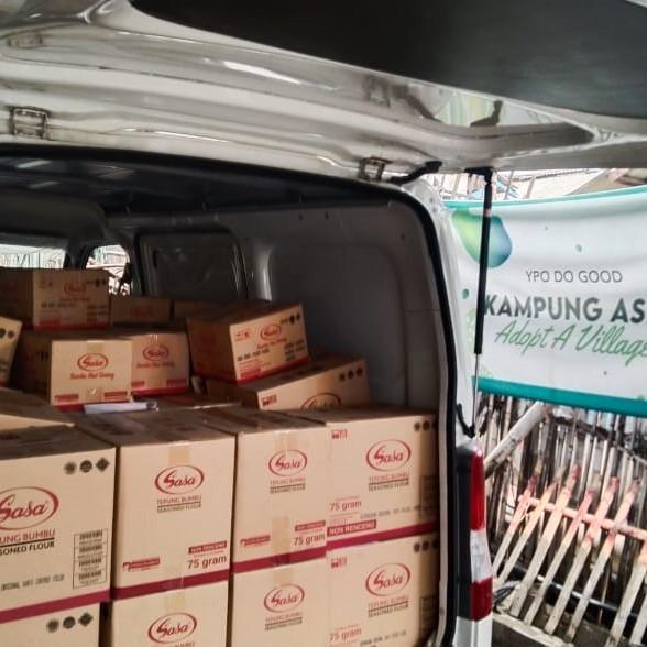 Berbagi berkah Bulan Suci, SASA donasikan ratusan karton bumbu masak