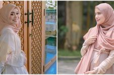 10 Beda gaya Lesty Kejora dan Nadya Mustika pakai gamis, tampil modis