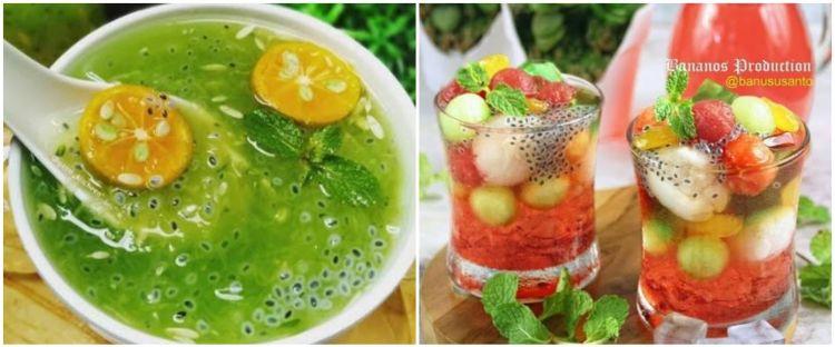 10 Resep minuman Lebaran dari biji selasih, segar dan nikmat