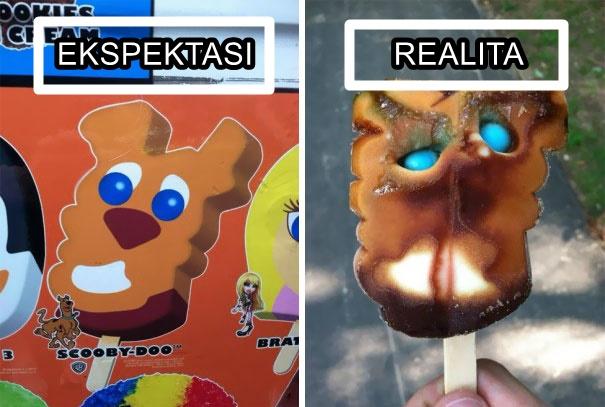 ekspektasi vs realita es krim © 2021 berbagai sumber
