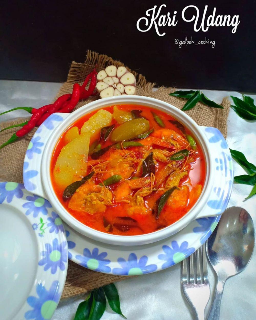 Resep masakan kari © 2020 Instagram/@eunice_euston ; Instagram/@galoeh_cooking