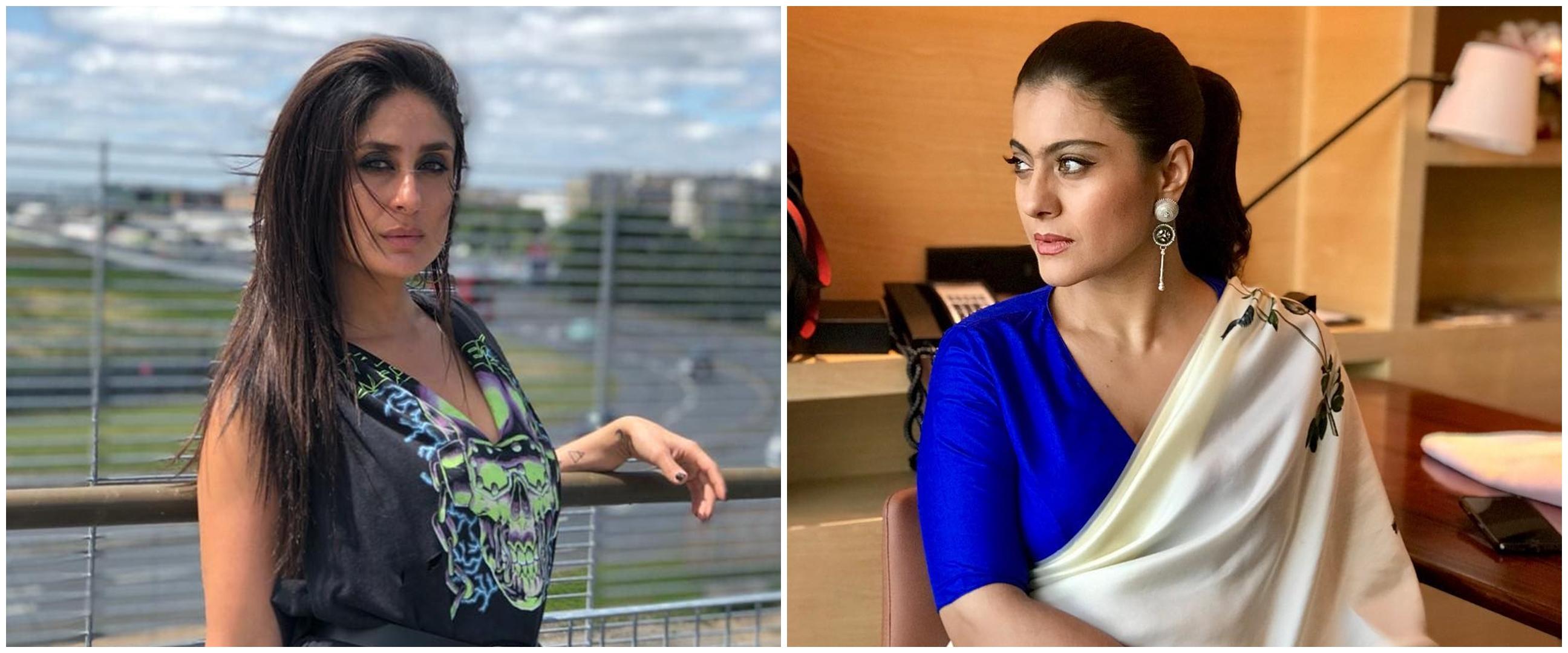 10 Beda gaya Kajol dan Kareena Kapoor tanpa makeup, tetap memesona