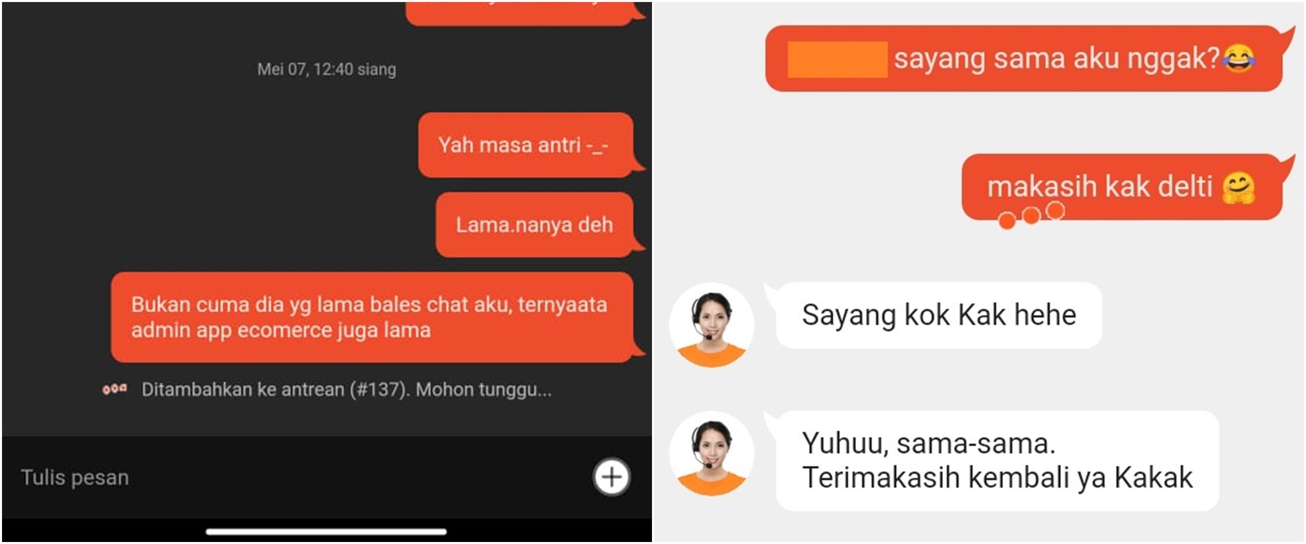 10 Chat lucu dengan admin aplikasi oline shop, nyeleneh dan kocak