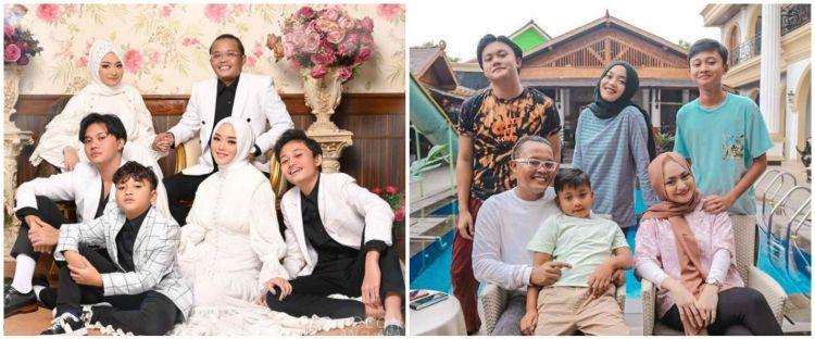 8 Potret kebersamaan keluarga Sule rayakan Lebaran, penuh kekompakan
