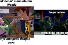 10 Meme lucu 'dengan gaya' Woody dan Buzz Toy Story, bikin cekikikan