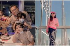 9 Momen Ashanty dan keluarga nginap di hotel bintang 7 berlapis emas