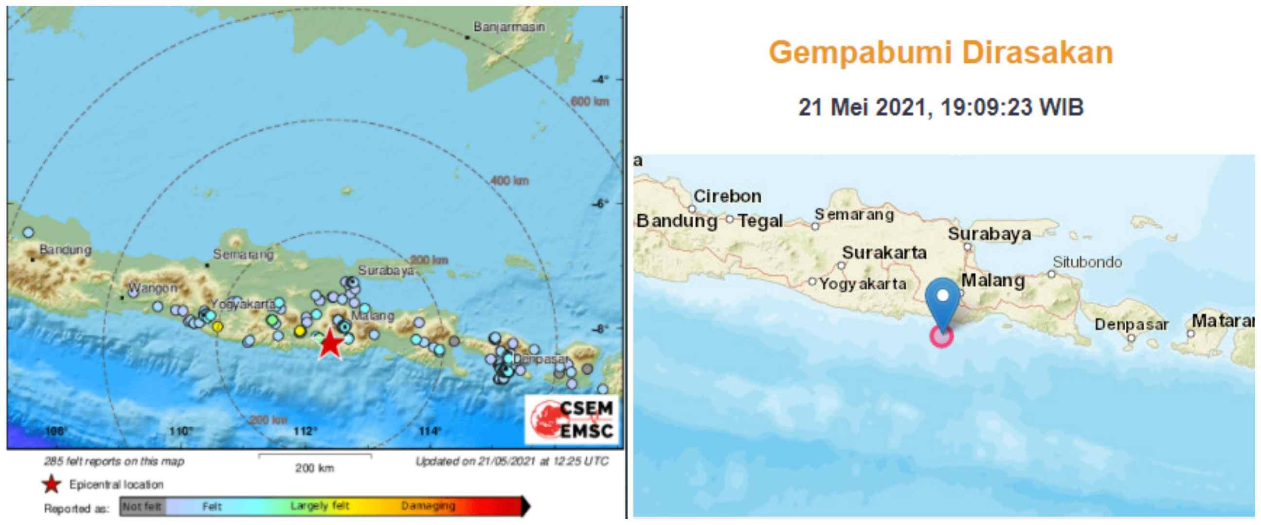 Gempa magnitudo 6,2 guncang Blitar, tidak berpotensi tsunami