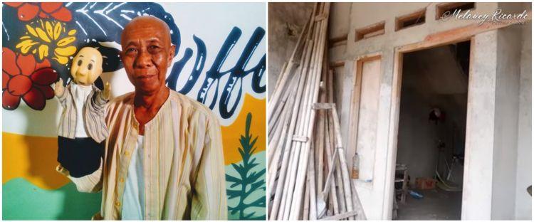 10 Penampakan rumah Pak Ogah 'Si Unyil', sempat ambruk kena banjir