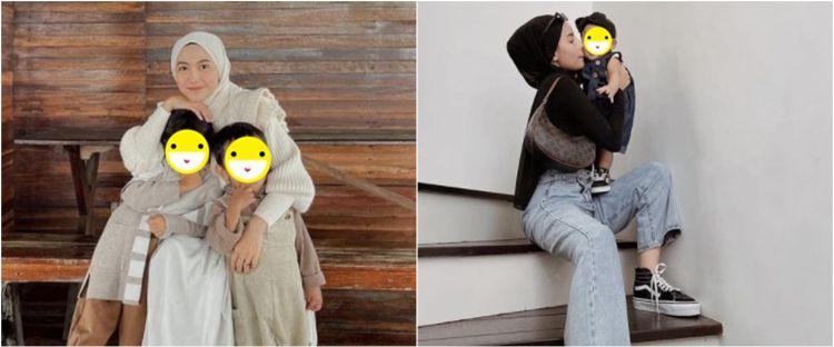 Beda gaya 7 selebgram saat momong anak, Rachel Vennya simpel dan modis