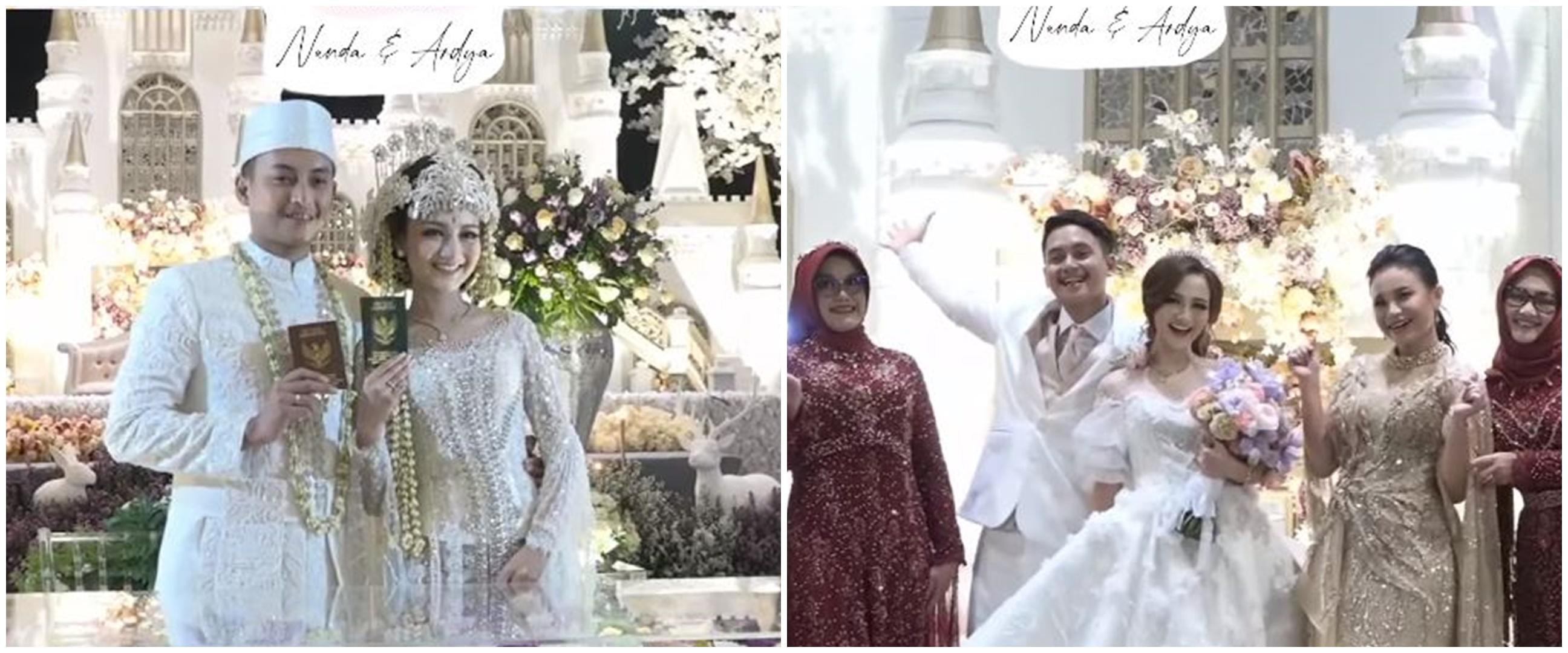 10 Momen pernikahan selebgram Nanda Arsyinta, maskawin saham 305 lot