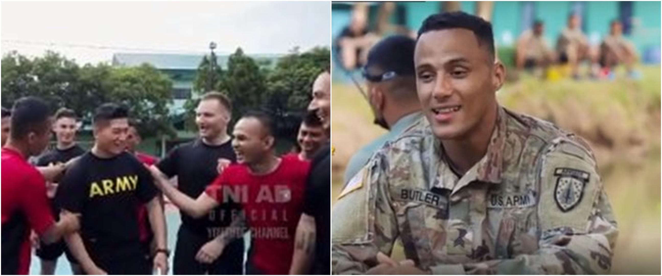 TNI beri rendang dan durian pada tentara AS, ekspresinya tak terduga