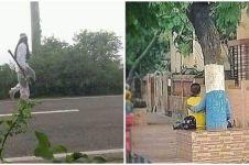 10 Potret kocak orang di pinggir jalan, lucunya bikin mikir keras