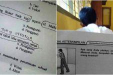20 Soal ujian sekolah ini unik dan absurd, bikin mikir keras