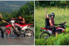 10 Momen seru Ririn Ekawati & Ibnu Jamil di Cianjur, naik motor trail