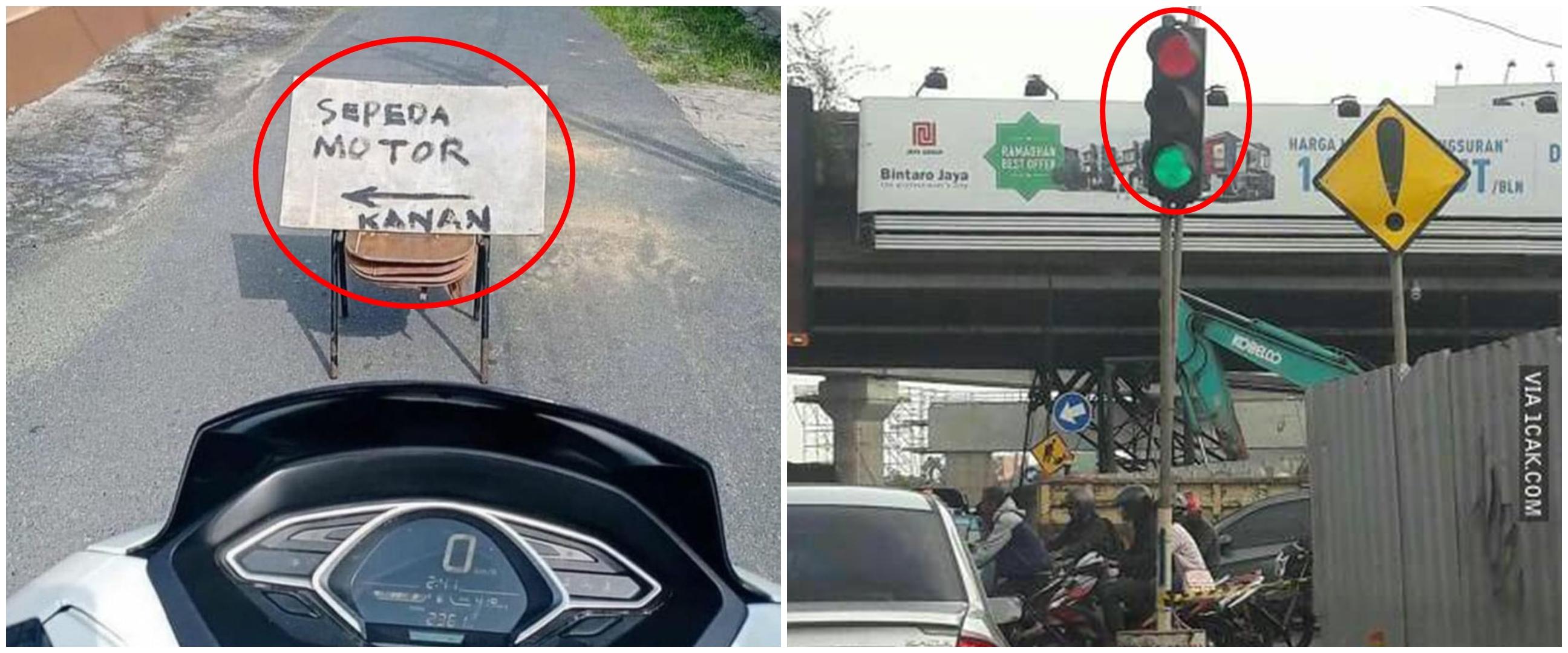 10 Momen serba salah pengendara di jalan ini bikin tepuk jidat