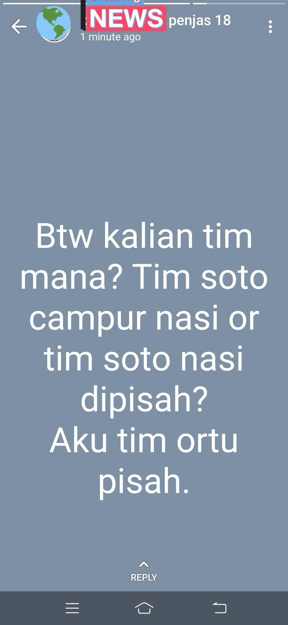 Pertanyaan receh di status WA © Twitter