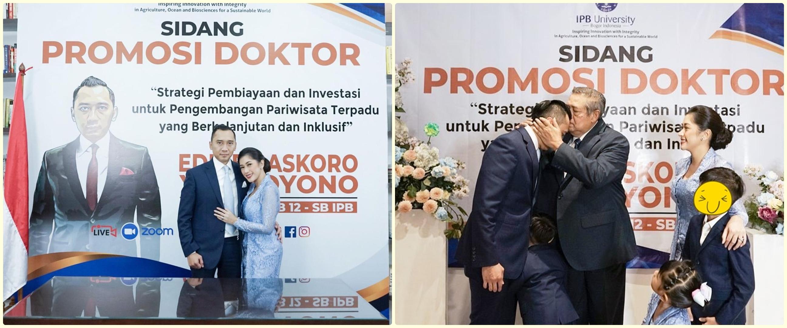 8 Momen Aliya Rajasa dampingi Edhie Baskoro Yudhoyono raih gelar S3