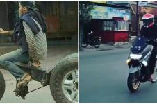 10 Momen lucu pesepeda di jalan raya ini bikin terkecoh