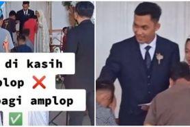 Viral pengantin malah beri amplop saat pernikahan, bikin salut