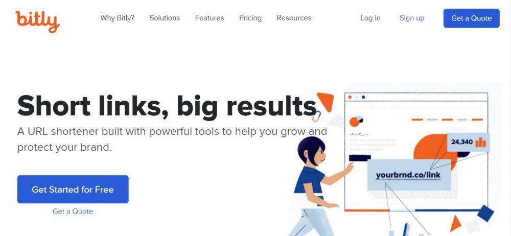 Cara mudah membuat tautan bitly © Bit.ly