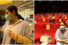 10 Momen Nagita Slavina ngidam nonton film horor, sewa satu bioskop