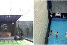 Potret kolam renang 8 presenter cantik, milik Syahnaz Sadiqah ala vila