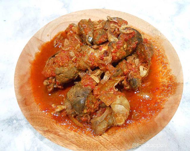 10 Resep kreasi hati ampela pedas © berbagai sumber