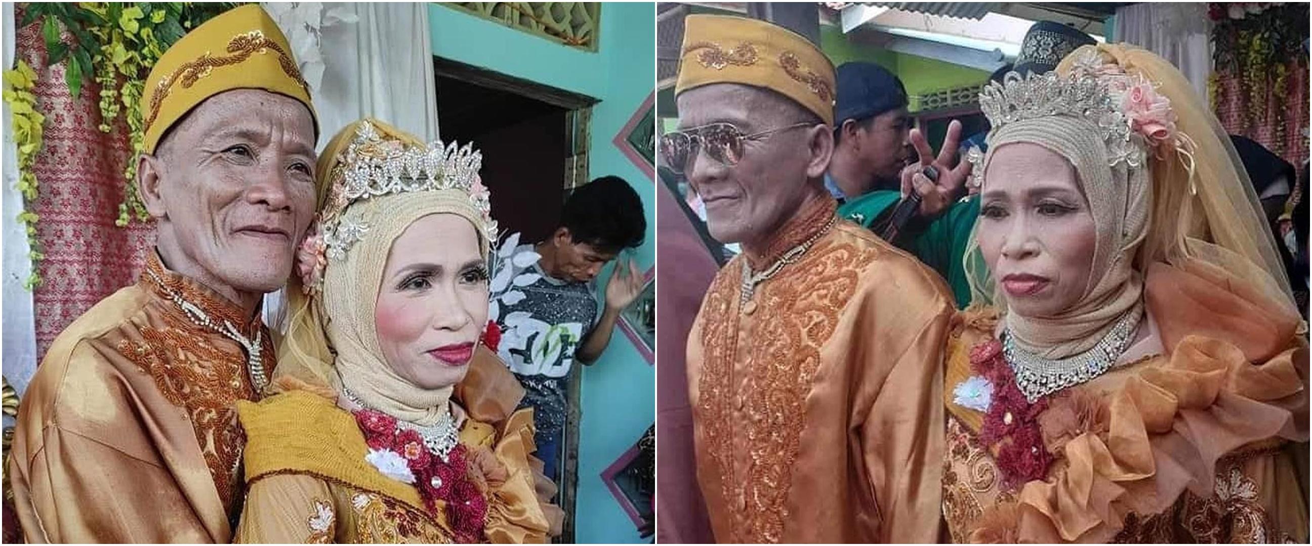 Viral pernikahan kakek & nenek usia 60 tahun, ini 6 potret romantisnya