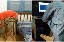 10 Posisi nyeleneh saat duduk di kursi ini bikin geleng kepala