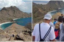 Viral situasi ramai di Pulau Padar, penuh pengunjung tanpa jaga jarak
