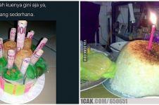 10 Ide kreatif bikin kue ulang tahun ini malah bikin tepuk jidat