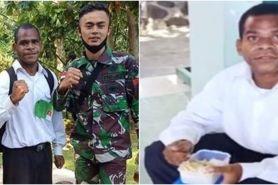 Ingat pemuda tes TNI berbekal nasi tahu, ini potretnya pakai seragam