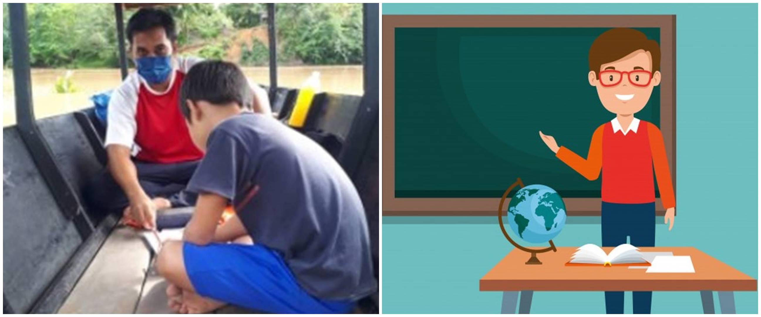 Minim akses internet, guru ini gunakan perahu untuk tempat mengajar