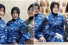 Potret ibu dan 3 putrinya jadi srikandi TNI Polri, kompak dan gagah