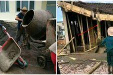10 Momen apes tukang bangunan ini bikin ikut ngelus dada