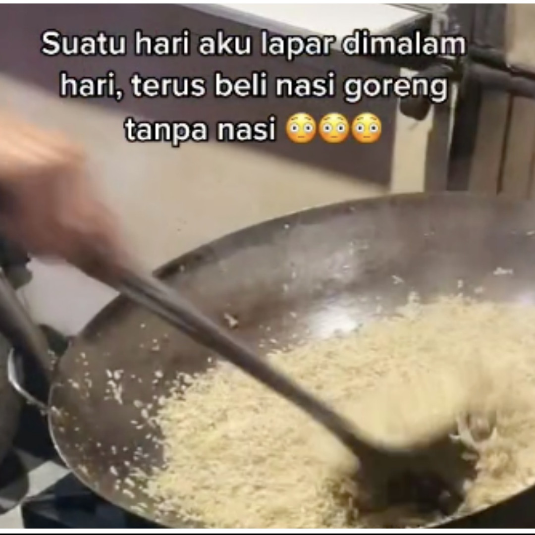 Viral aksi beli nasi goreng tanpa nasi, begini penampakannya