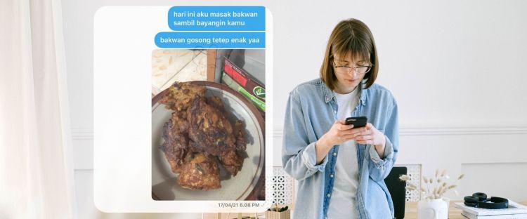 12 Chat lucu pamer masakan ini bikin perut auto kenyang