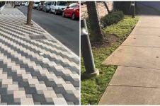10 Potret lucu pola trotoar ini malah bikin geregetan