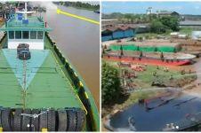 Kapal tongkang meledak di sungai Arut, satu pekerja tewas