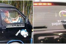 10 Potret lucu stiker di mobil ini bikin lihat dua kali