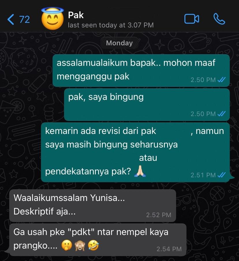 Chat dosen bak teman sebaya © berbagai sumber