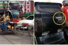 10 Momen lucu naik becak ini bikin pengen ketawa