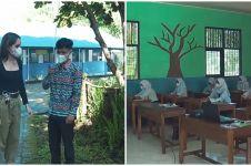 10 Potret sekolah yang dibangun Cinta Laura, lokasinya di pedalaman