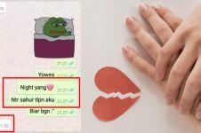 10 Chat lucu niatnya romantis ini berakhir bikin nyesek abis