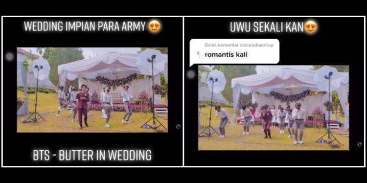 Viral aksi pengantin pria joget ala BTS, bikin Army auto iri
