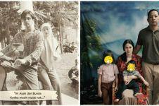 Gaya pemotretan 9 keluarga seleb dengan tema jadul, ikonik abis