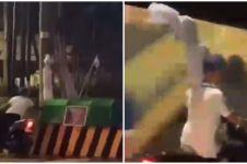 Viral video pemotor curi 'pocong' saat PPKM, alasannya tak terduga