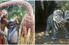 10 Penampakan nyeleneh patung hewan ini nggak mirip aslinya